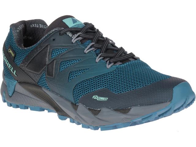 Merrell Agility Peak Flex 2 GTX Løbesko Herrer grå/petroleumsgrøn | Running shoes